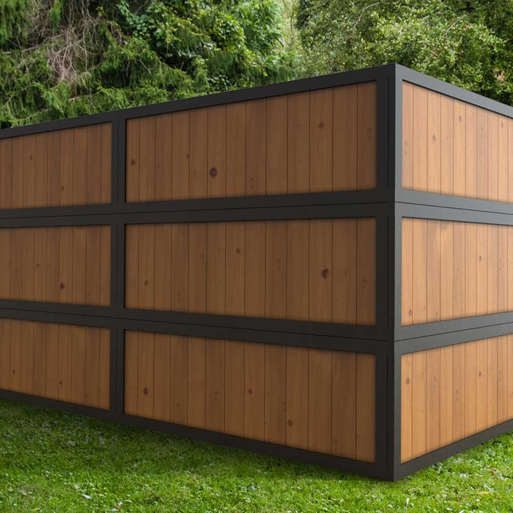 Outdoor Essentials 2 Ft X 6 Ft Pressure Treated Dura Color Sonoma Wood Fence Panel With Black Frame 311444 The Home Depot In 2020 Wood Fence Design Wood Fence Fence Panels