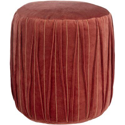 Modern Rustic Interiors Maria Pouf Upholstery Colour Dark Red