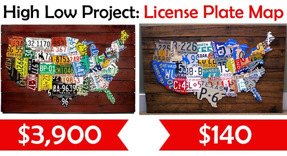I Cannot Even Begin To Describe How Badly I Want One Of Theseif - Us map made out of license plates