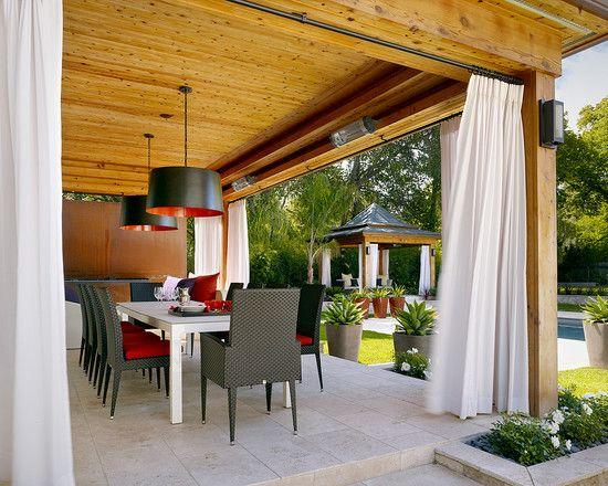 cortina para area externa Pesquisa Google Decoraç u00e3oÁrea externa Varanda Goumet  -> Decoração De Varandas Externas De Casas