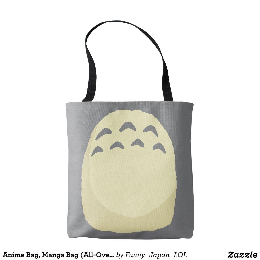Anime bag manga bag alloverprint tote bag zazzle