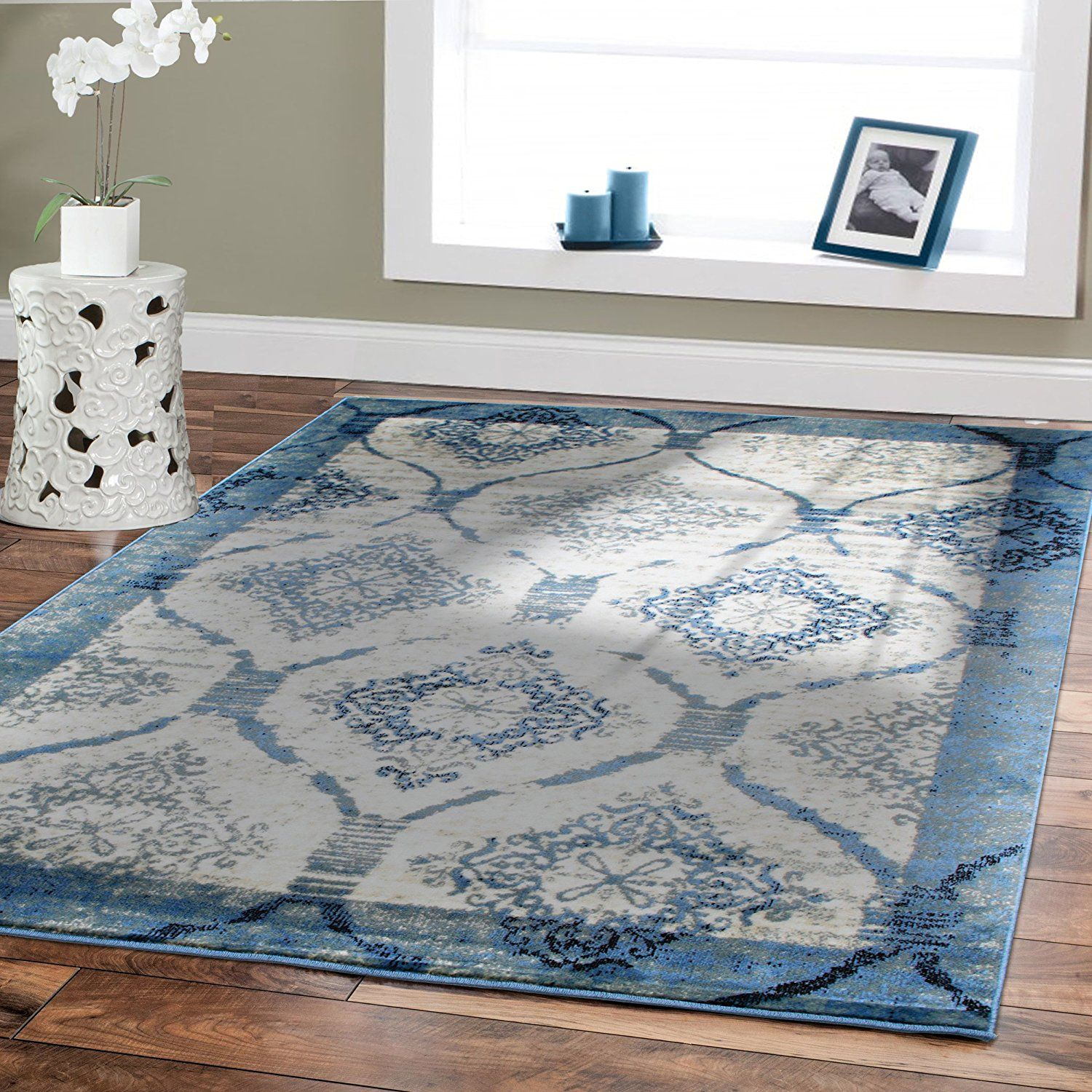 Premium Soft Area Rugs For Living Room 5x7 Under150 Blue Dining