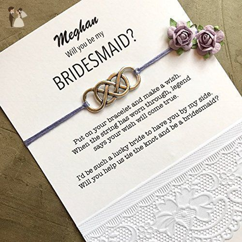 Will You Be My Bridesmaid Gifts Custom Bracelets On Personalized