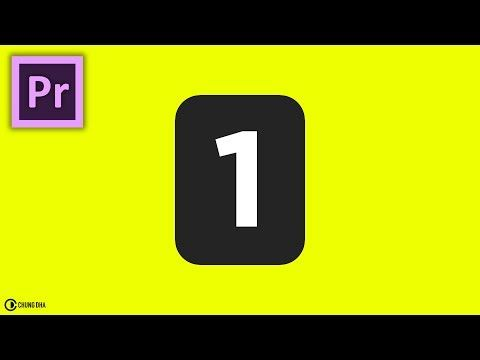 Countdown Flip Clock In Adobe Premiere Pro Cc2017 By Chung Dha
