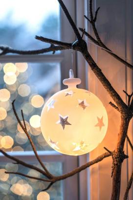 Neuheiten Weihnachtsbeleuchtung.Kugel Mit Sternen Beleuchtet Groß Neuheiten 2016 New Items