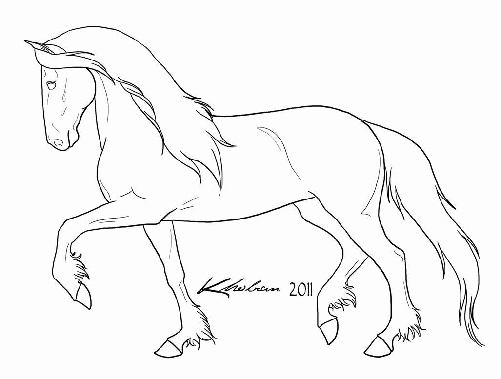 Horse Head Coloring Page Inspirational Friesian Lineart By Kholran On Deviantart In 2020 Horse Coloring Horse Coloring Pages Horse Head Drawing