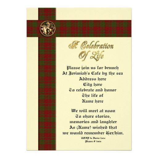 Celebration of life memorial invitation for man – Memorial Service Invitation Wording