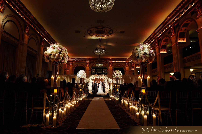 Beautiful Ballroom At The Ben Wedding Philip Gabriel Photography In 2020 Floral Wedding Decorations Wedding Ballroom