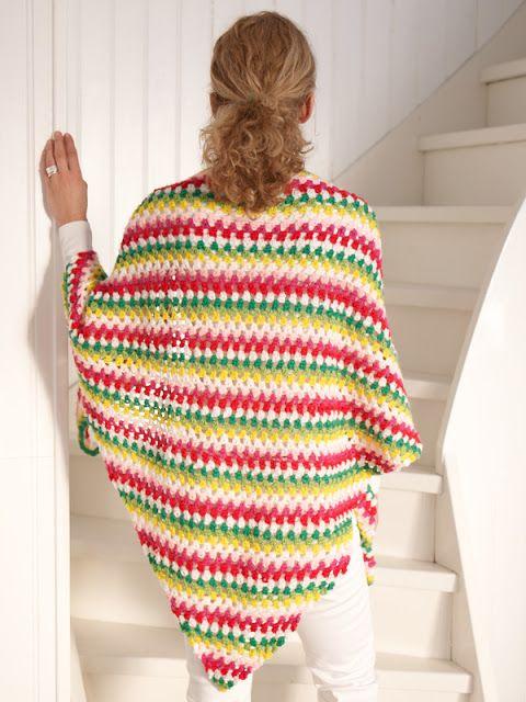 Crochet Granny Stitch Shawl - Free Pattern | Knitting | Pinterest