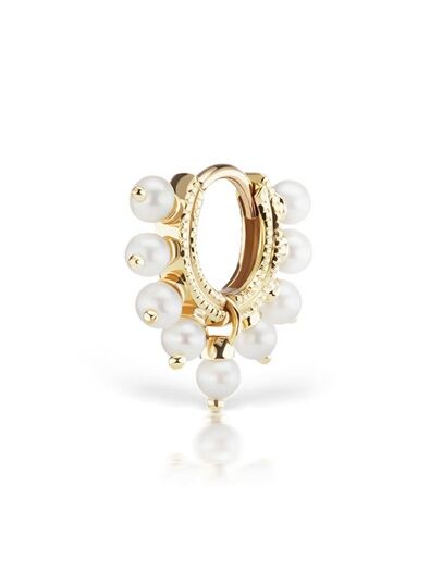 Maria Tash Pearl Coronet Ring 14kt gold and pearl earring yHnzVqSca