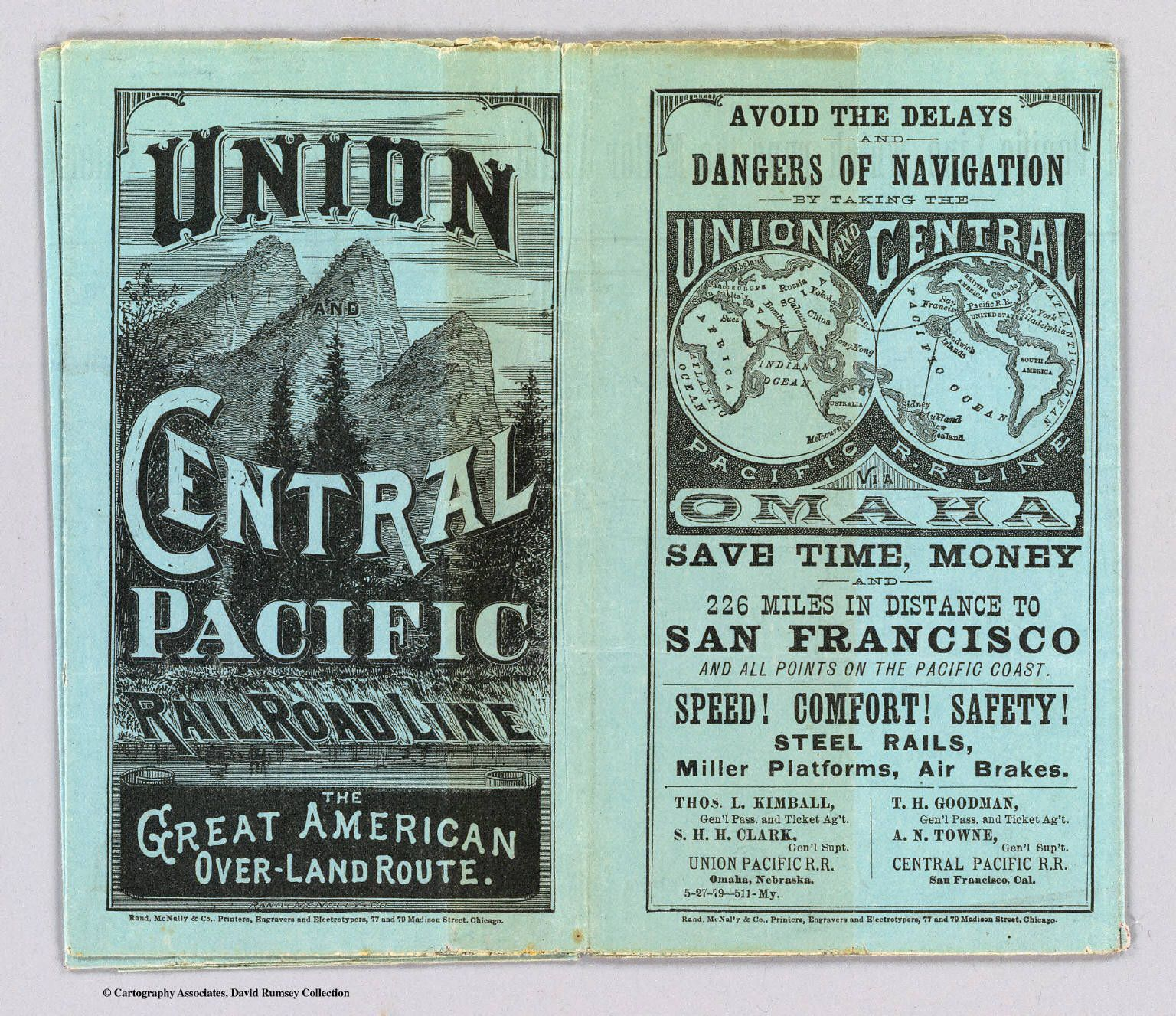 Transcontinental Railroad advertisement | History ... Pacific Railway Company