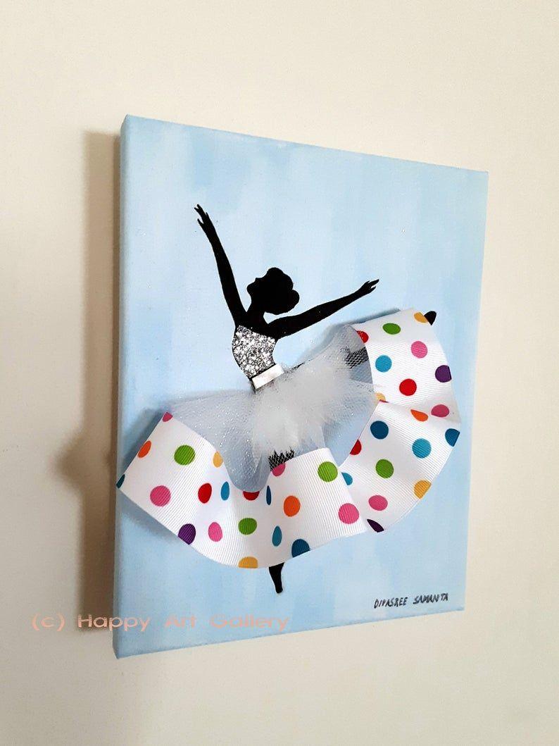 Ballerine Doll Ballerina Partie Ballerine Art Danseur Cadeau Etsy Nursery Art Girl Ballerina Gift Ballerina Wall Art
