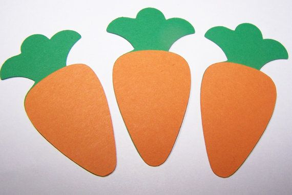 Just for the idea/pattern Die Cut Carrot, Paper Embellishment, Scrapbooking , Orange and Green, Easter Bunny, Easter Decor, Rabbit, Paper Piecings, Classroom Decor