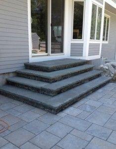 patio steps with bluestone treads - paul massad landscape design ... - Patio Steps Design