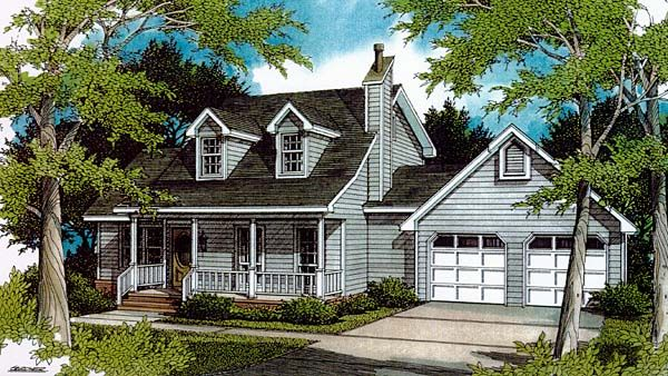 Cape cod country house plan 96544 cod country houses for Cape cod garage