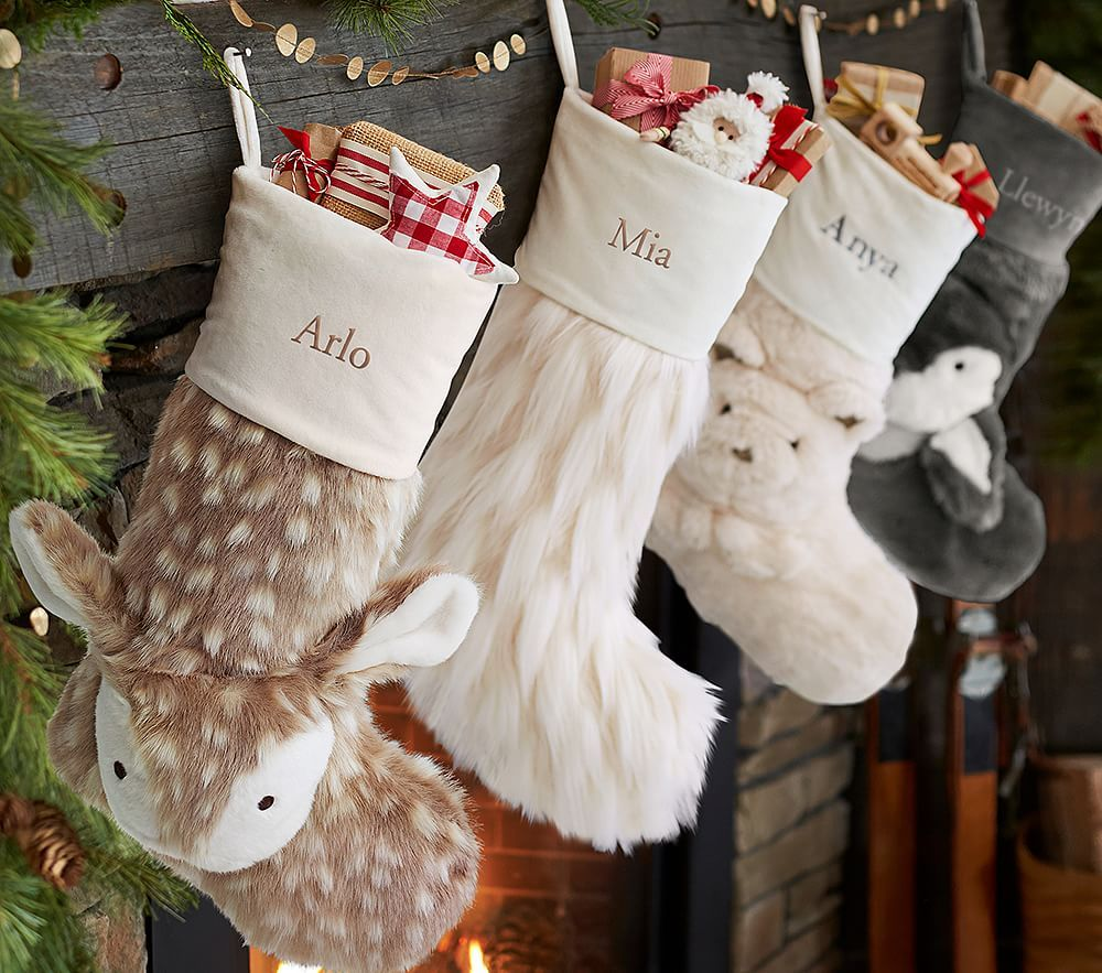 Faux fur stocking collection christmas stockings