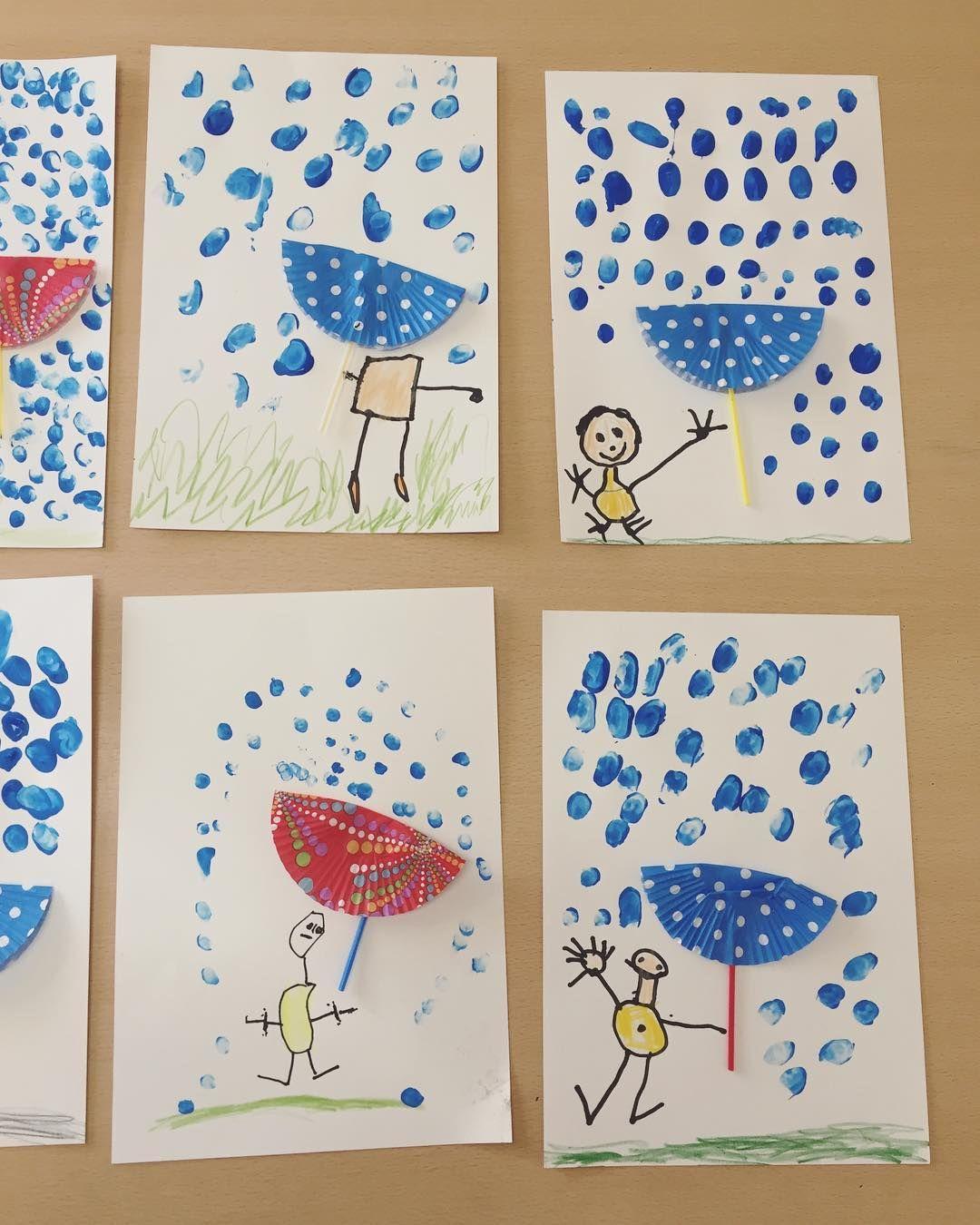 """Erzieherin seit 7 Jahren on Instagram: """"It's a rainy day ️ ———————————————————————————- Gefördert wird: #kreativität #feinmotorik #fingerfertigkeit #koordination von Hand und…"""""""