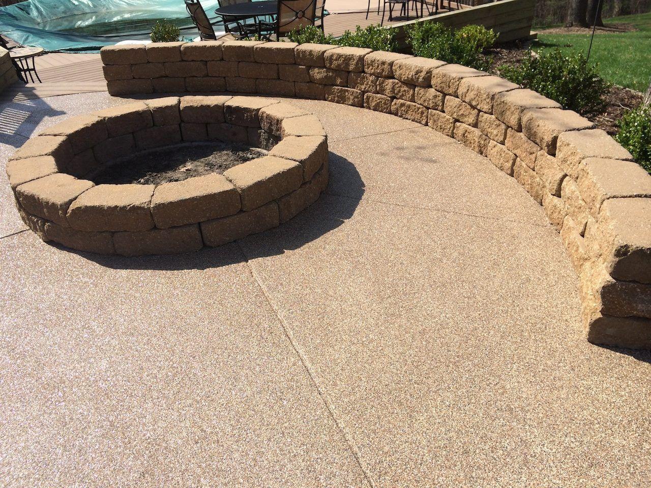 Concrete Resurfacing Epoxy Flooring Peoria Bloomington Il Fire Pit Patio Backyard Fire Patio Projects
