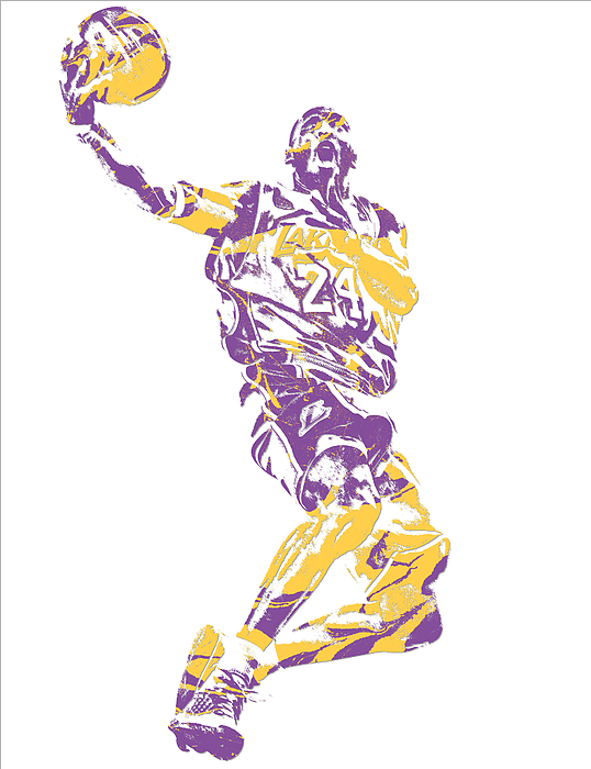 Kobe Bryant Los Angeles Lakers Pixel Art 24 Shower Curtain For