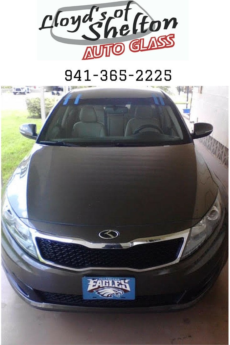 2013 Kia Optima - Our mobile service visited this car owner's home and installed a new windshield. https://lloydsofshelton.com/blog/auto-glass-replacement-sarasota-fl/ | #AutoGlass #Sarasota