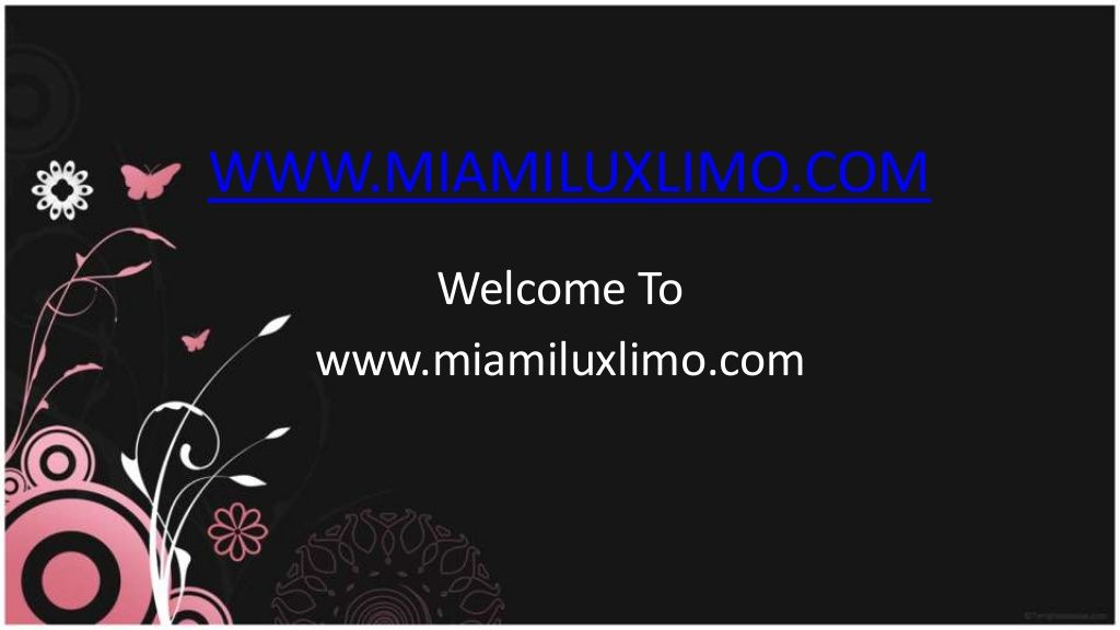 Go and Get Miami Airport Car Service by Mateusz Gromadzki via slideshare