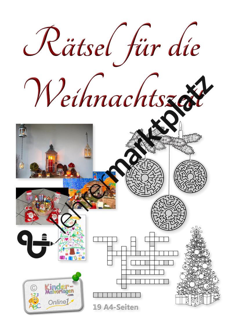 Weihnachten-RätselDiese Sammlung enthält 19 Rätsel mit ...