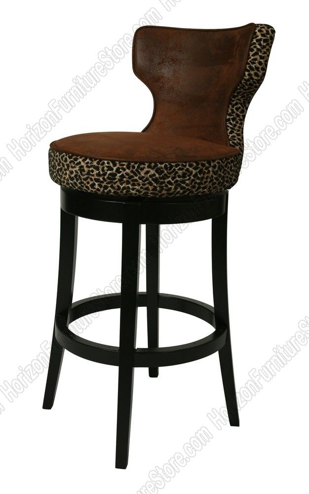 Pastel Furniture Augusta 30 Swivel Barstool In Feher Black Wood