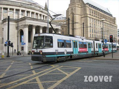 Manchester Metrolink St Peter S Square Outside Central Library Manchester England Manchester Metrolink Manchester
