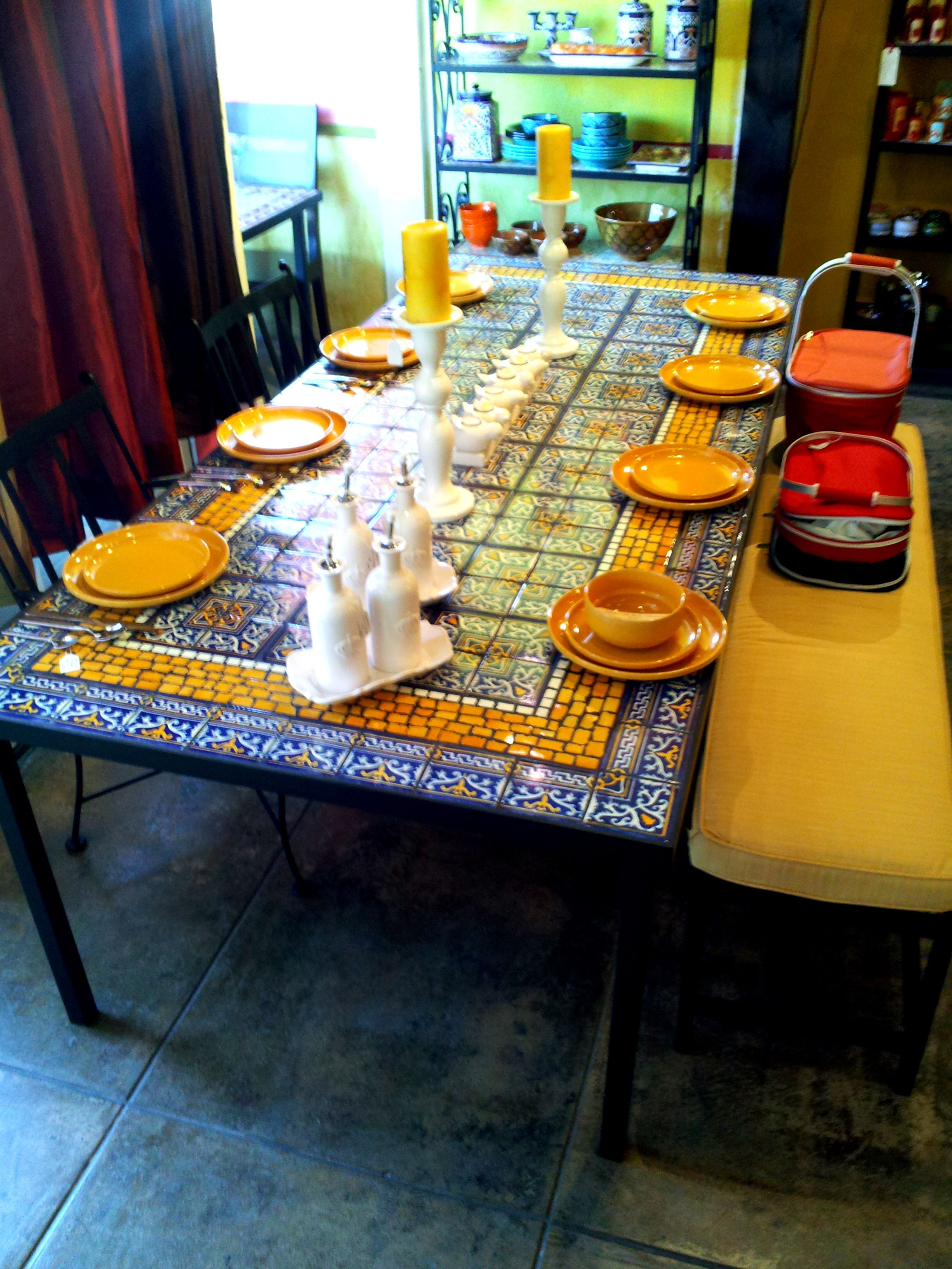 Furthur Wholesale Mosaic Dining Tables $1100  Интерьер Magnificent Mosaic Dining Room Table Design Decoration