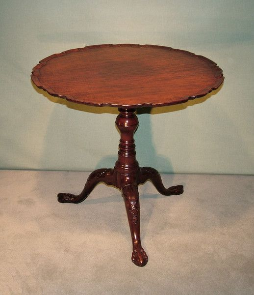A Mid 18th Century Chippendale Period Fiddleback Mahogany