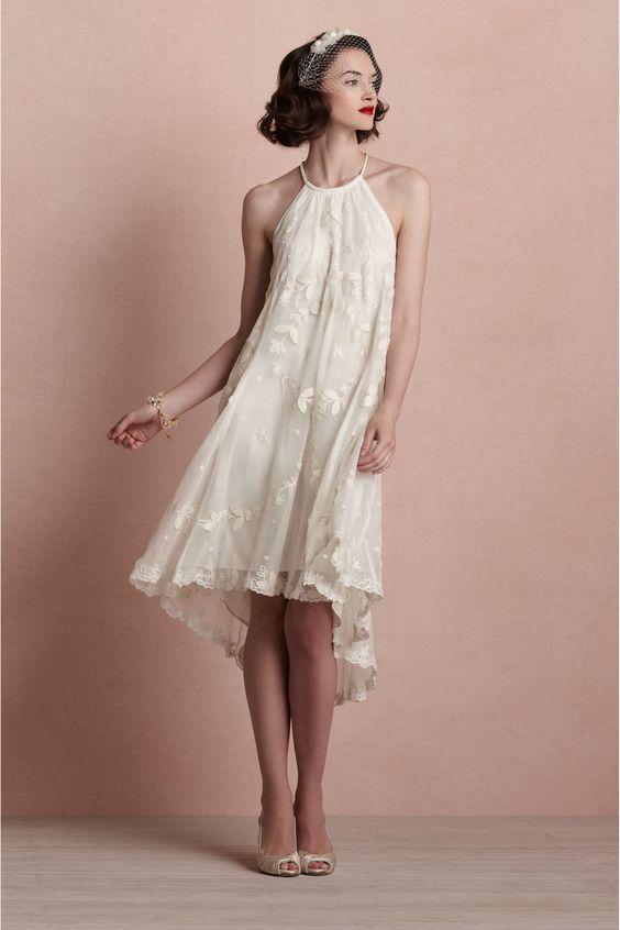 6f549962 32 Vestidos de Novia Cortos y Fabulosos para tu Boda Civil o No ...