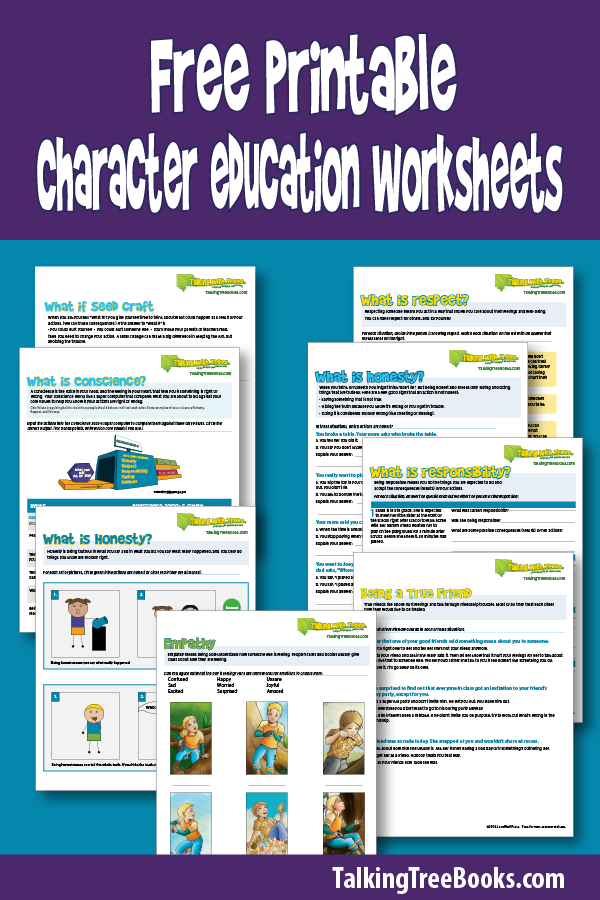 It's just a graphic of Selective Free Printable Character Education Worksheets