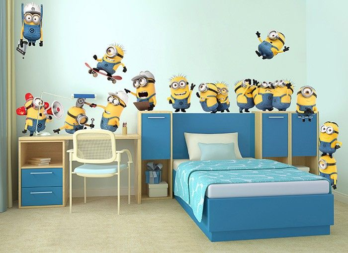 look out the minions are on the loose in this crazy set of wall
