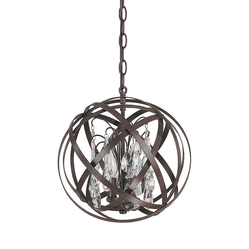 3 light pendant with crystals included capital lighting fixture company