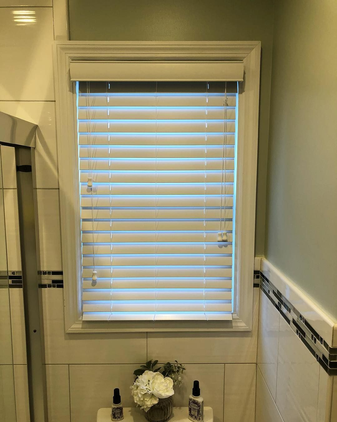Faux Wood Blind Bathroom Blinds Blindstogo Window