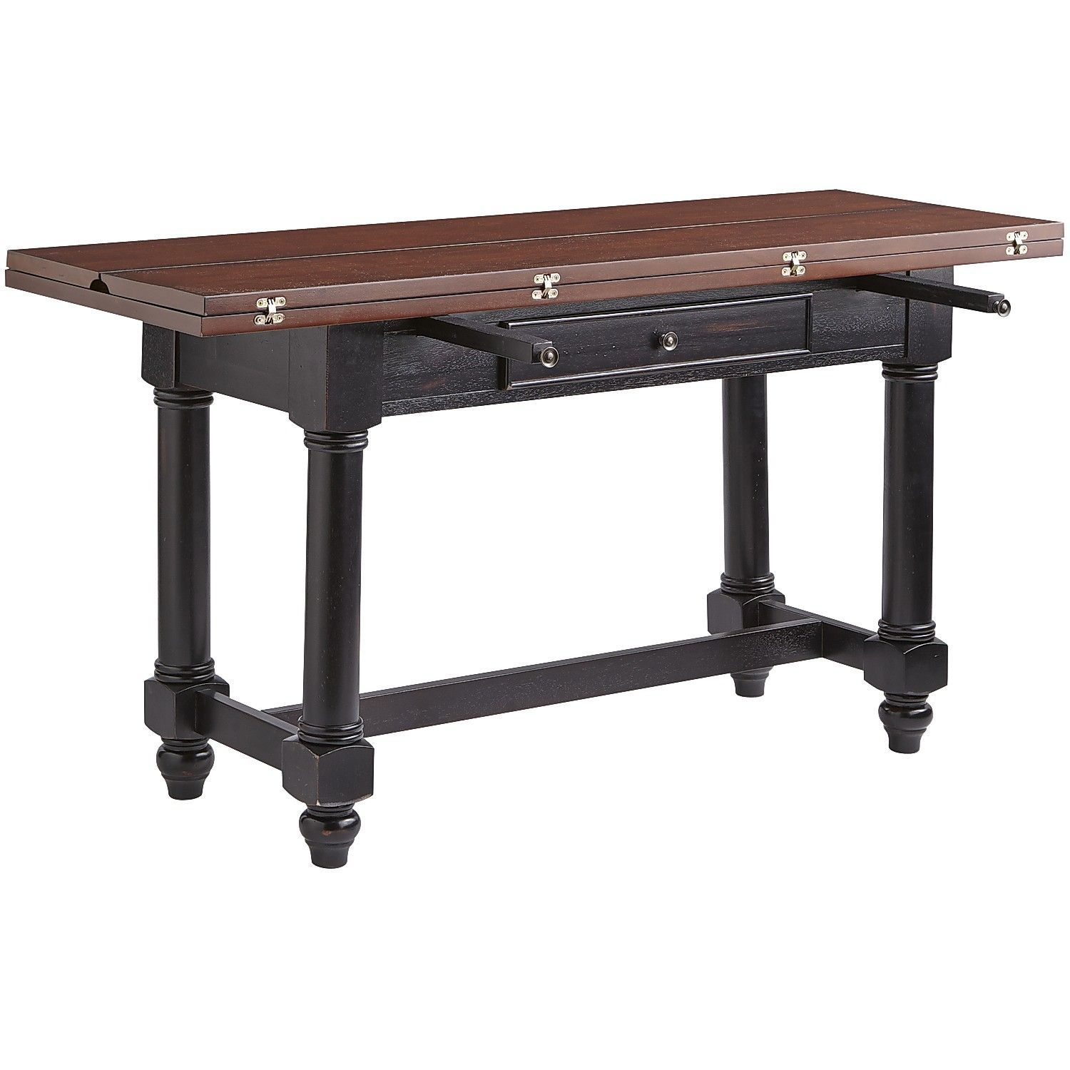Blake Drop Leaf Table   Pier 1 Leaves Fold Over Top, With Support Poles That
