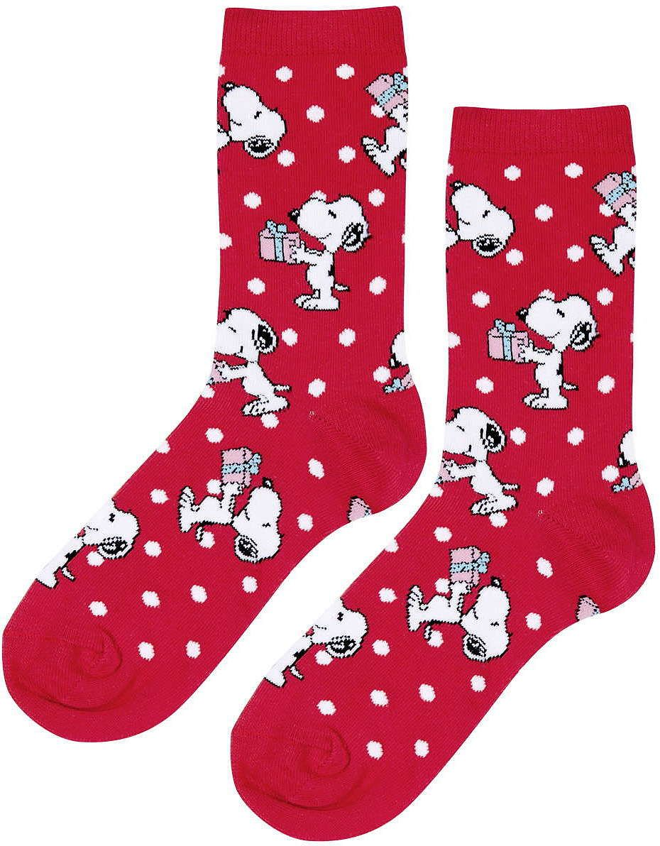 Womens scarlet womens snoopy christmas ankle socks - red, red from ...