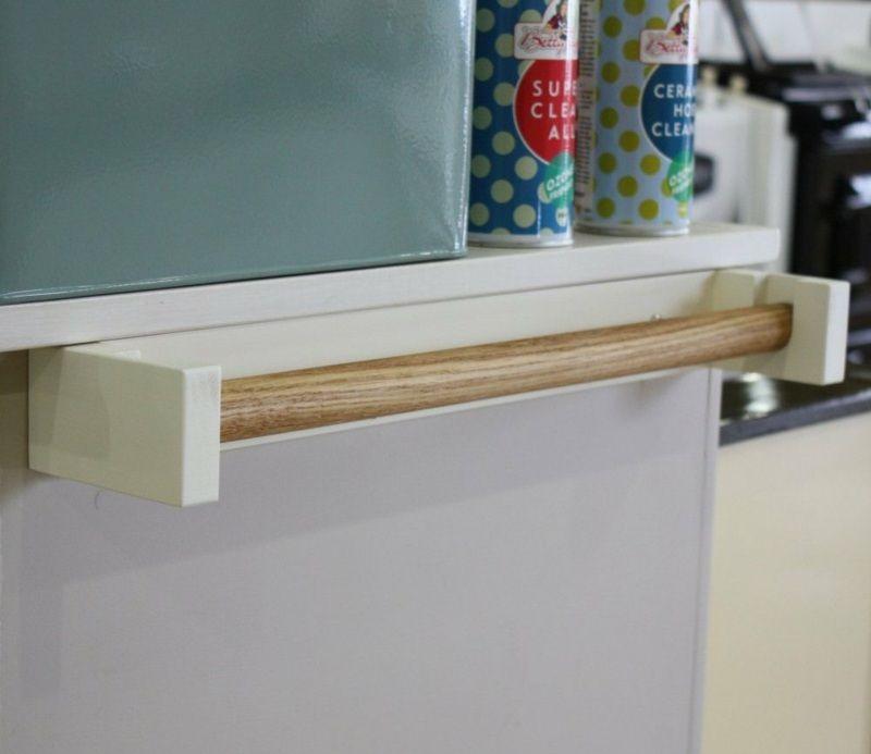 Handtuchhalter aus Holz - Verwenden Sie eine Halterung für - halter für küchenrolle