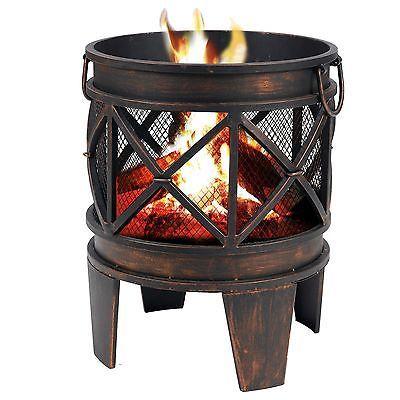 Tepro Feuerstelle Terrassenofen Ofen Feuerkorb Kamingrill Gartenkamin Gracewood Feuerstelle Feuerkorb Kamin Grill