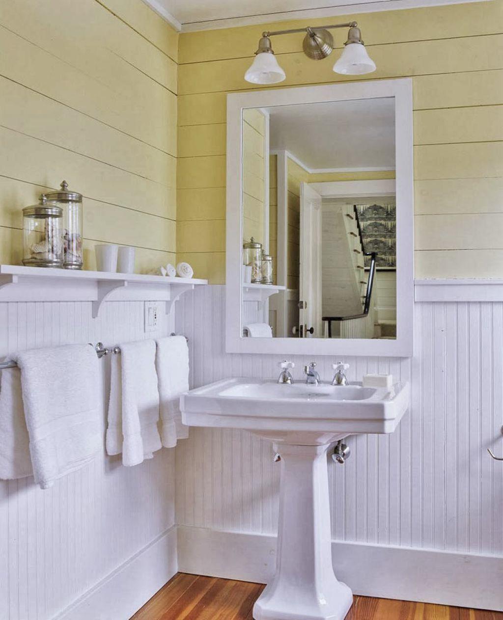 Beadboard Bathroom Wainscoting | laundry room & linen ...