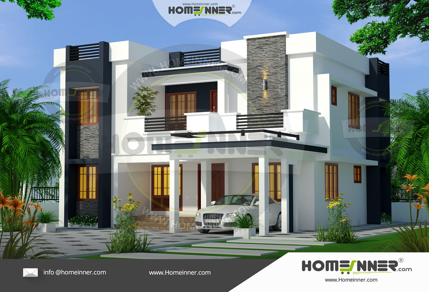 Home Design Online 4 Bedroom Contemporary Ultra Modern House Plans 1900 Sq Ft