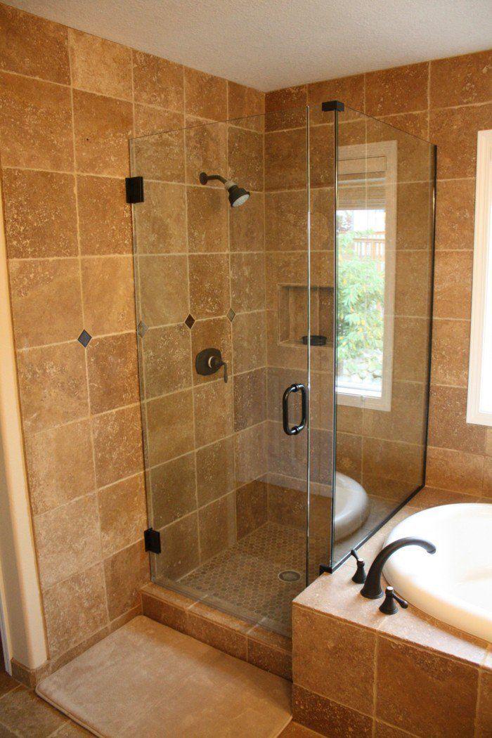 begehbare dusche als erweiterung des kleinen bades. Black Bedroom Furniture Sets. Home Design Ideas