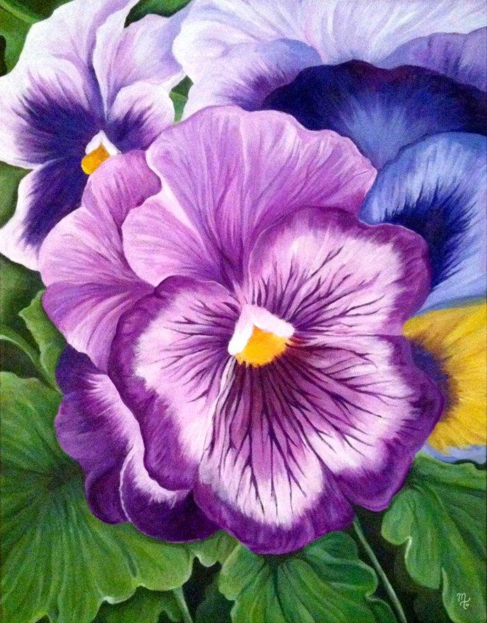 виола цветок рисунок верхушка каждой