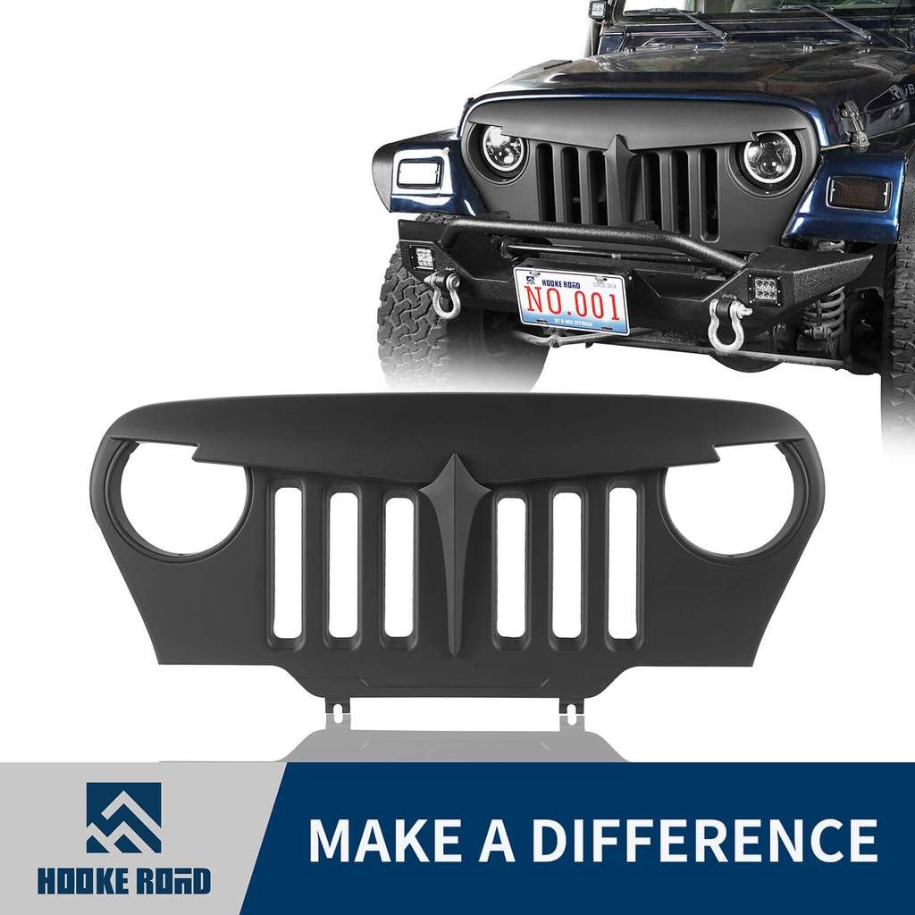 Hooke Road Angry Bird Grille For Jeep Wrangler Tj 97 06 Jeep Wrangler Tj Jeep Wrangler Jeep Wrangler Grill