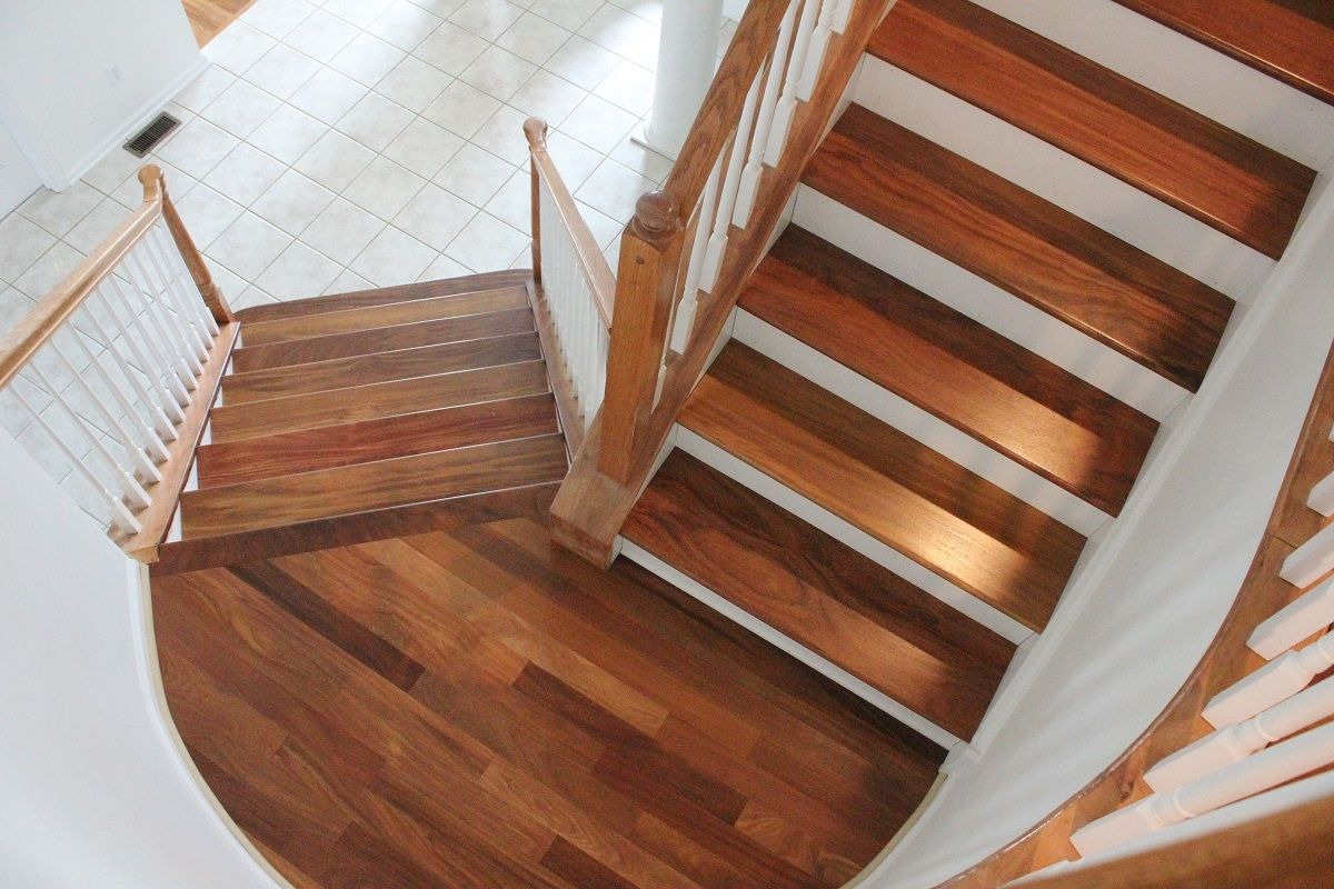 Hardwood flooring on stair landing httpglblcom pinterest hardwood flooring on stair landing when shopping for do it yourself or pre finished hardwood flooring would you understand solutioingenieria Image collections