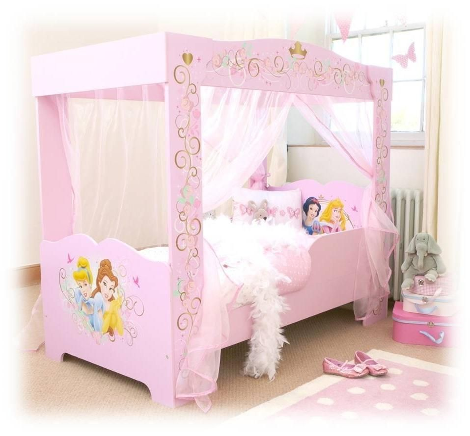 Beautiful Baby Girl Nursery Designing With Pink Bed Frame And ...