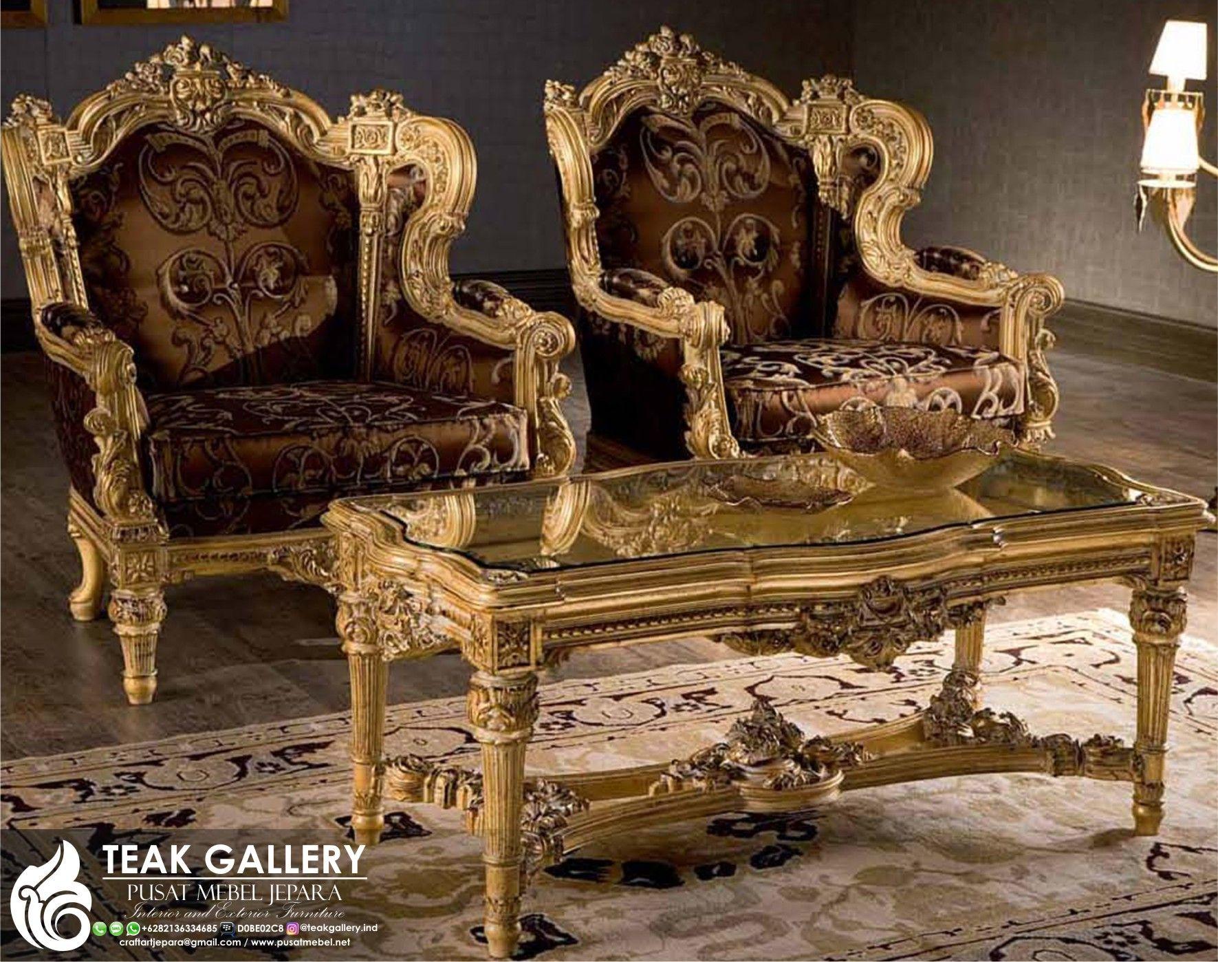Set Sofa Ruang Tamu Klasik Modern Jepara Sofa Tamu Mewah Sofa Tamu