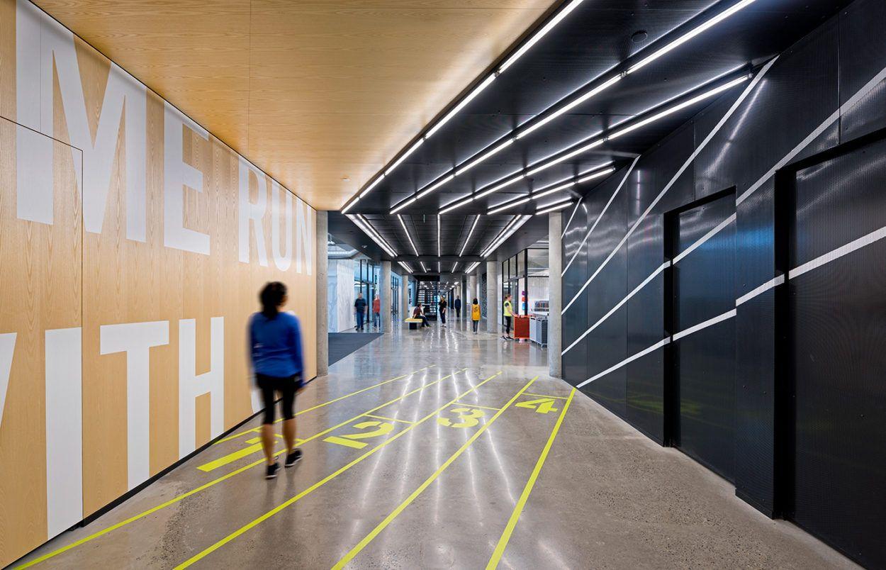 Nike running studio architecture and interiors