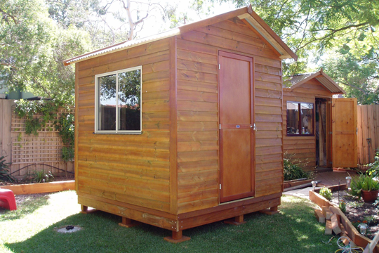 The Storage Shed is an attractive addition to any backyard. Sized 2.3m (w) x 2.4m (l) and available from Matt's Homes.