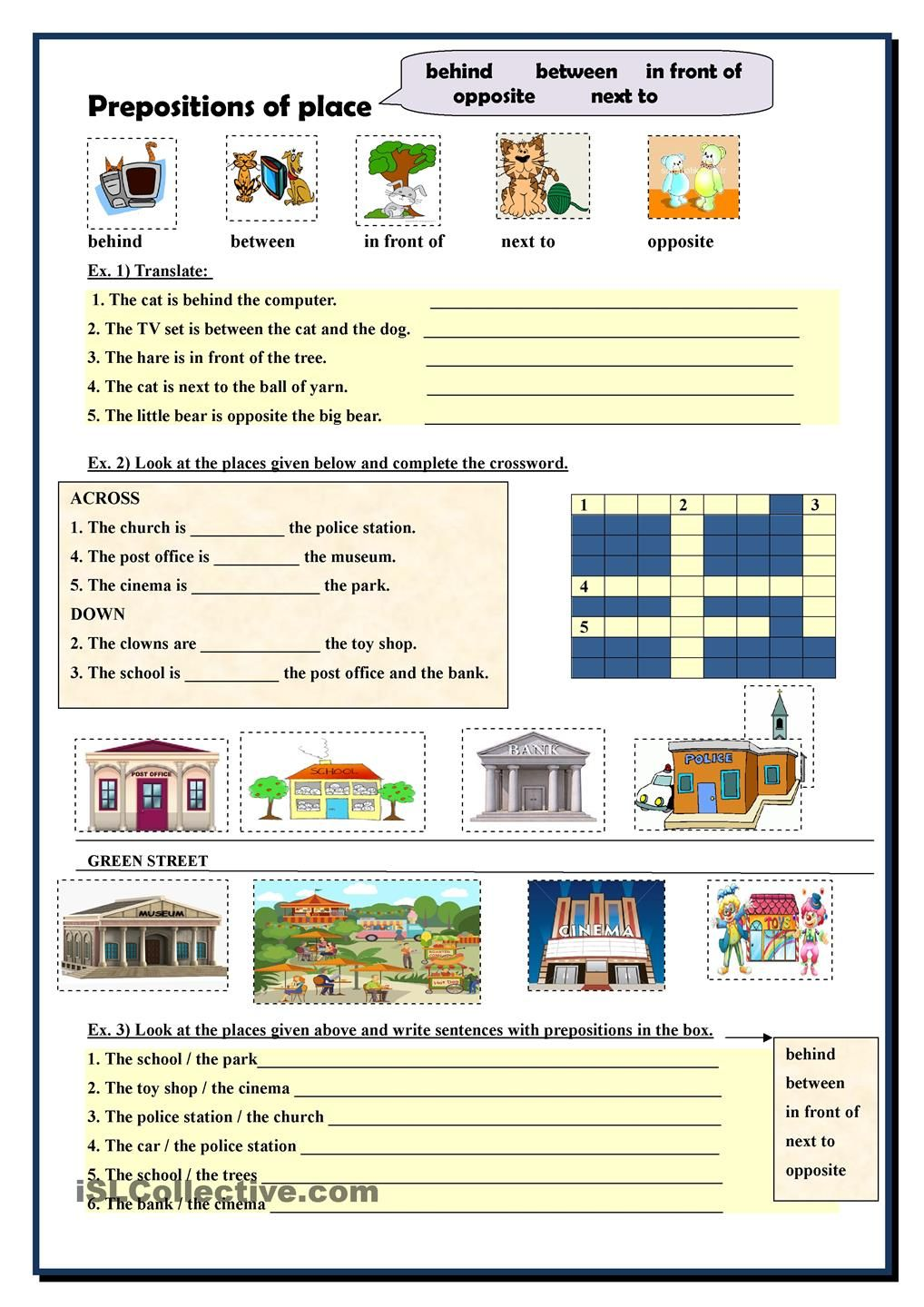 Prepositions of place | English worksheets | Pinterest ...